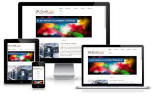 GK Druck - HTML / CSS Website