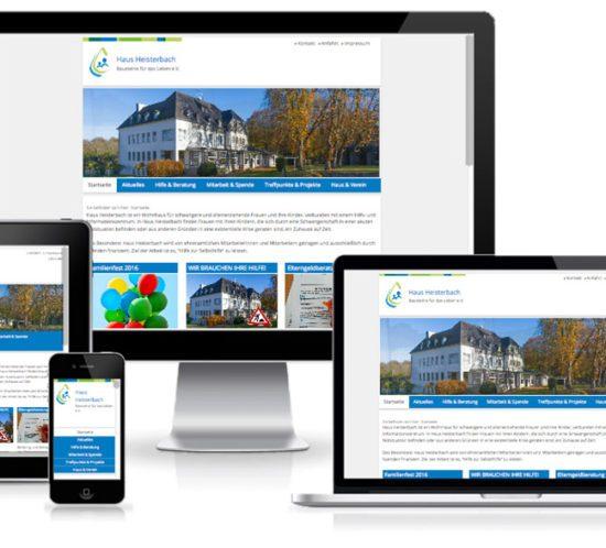 Haus Heisterbach - TYPO3 Website