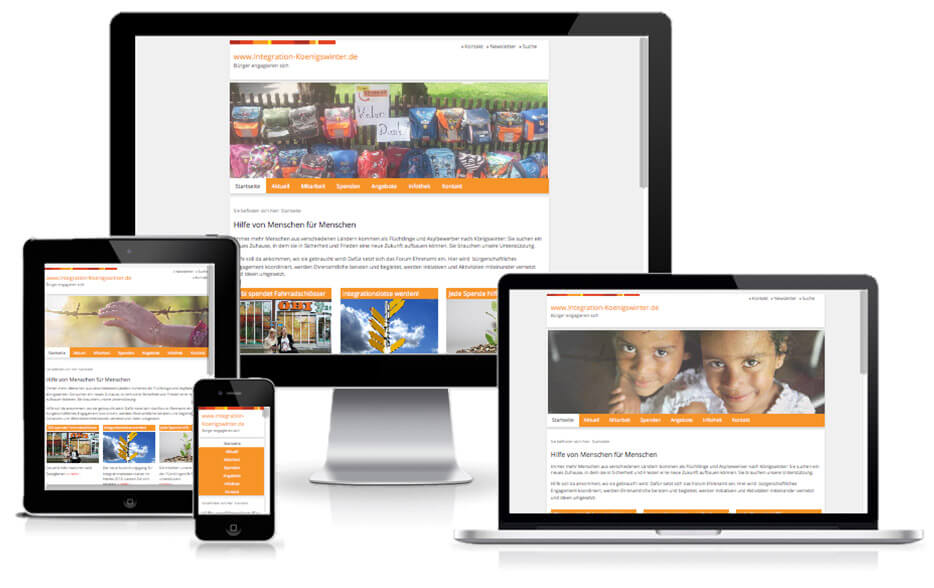 Integration Königswinter - TYPO3 Website