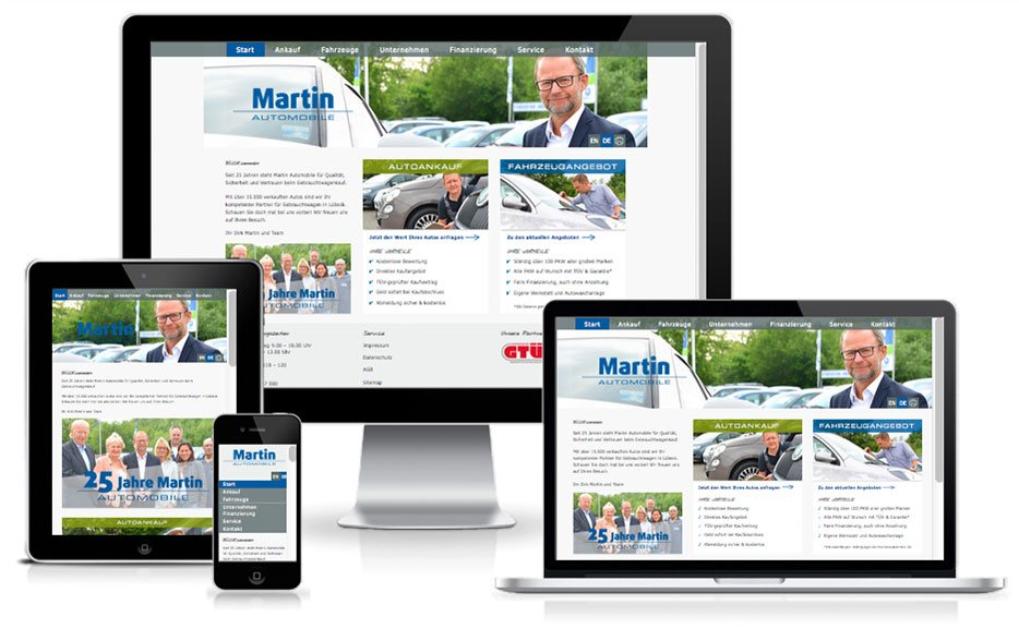 Martin Automobile - TYPO3 Website
