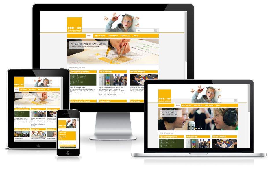 Stiftung Rechnen - TYPO3 Website