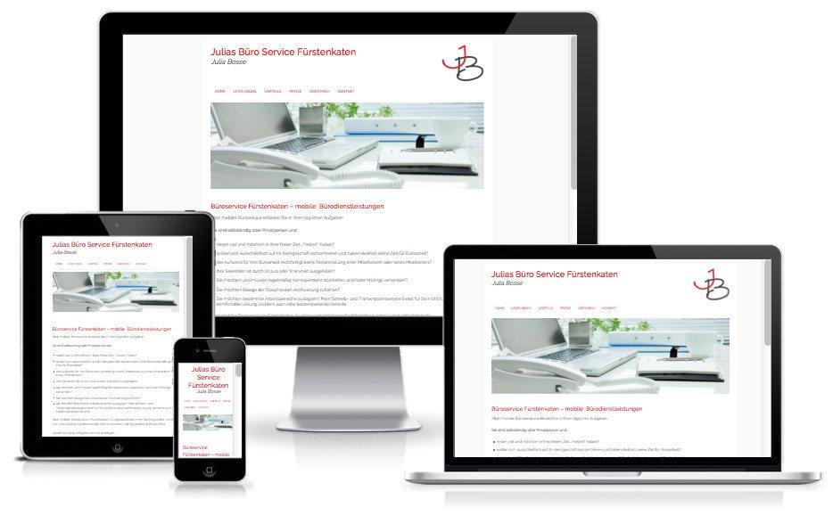 Büroservice - WordPress Website