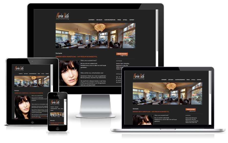 Marion Vieth Hairstyling - WordPress Website