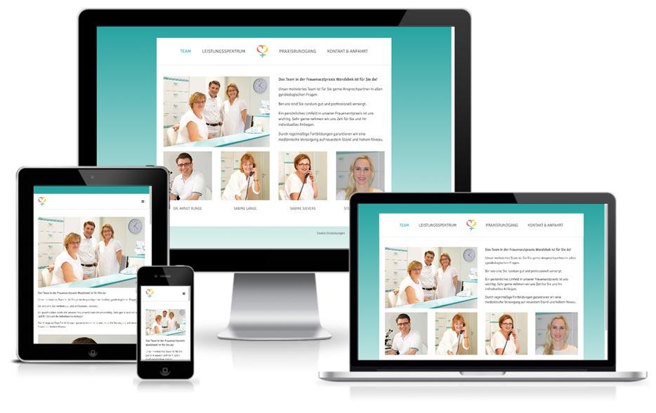 Frauenarztpraxis Wandsbek - WordPress Website