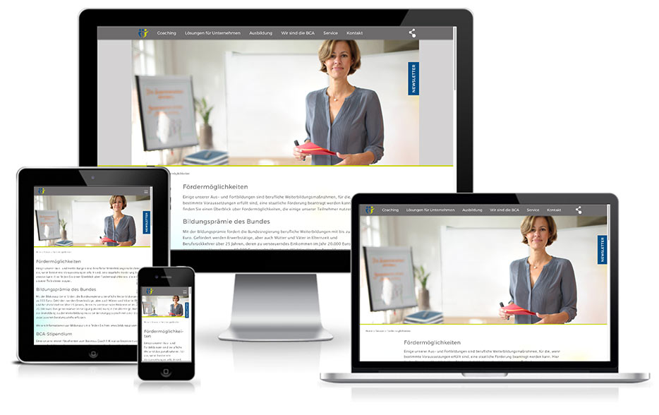Coaching im Business - Wordpress Website