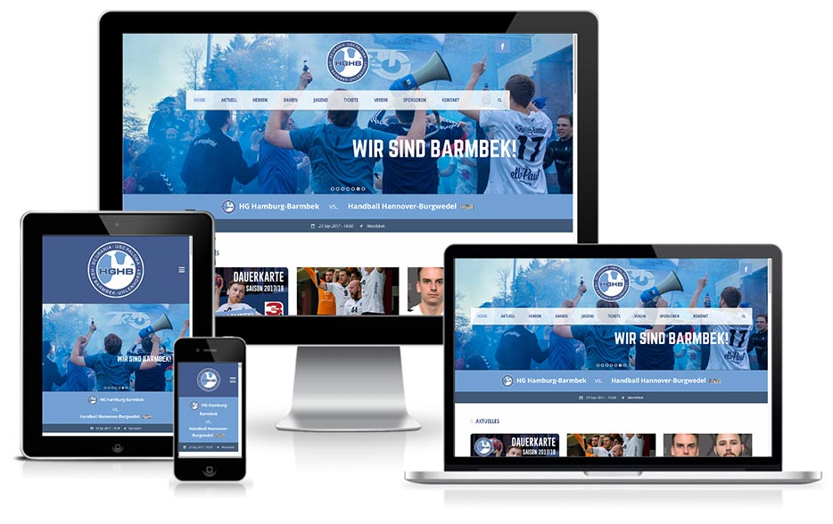 Webdesign + WordPress - HGHB Handball Gemeinschaft Hamburg Barmbek -