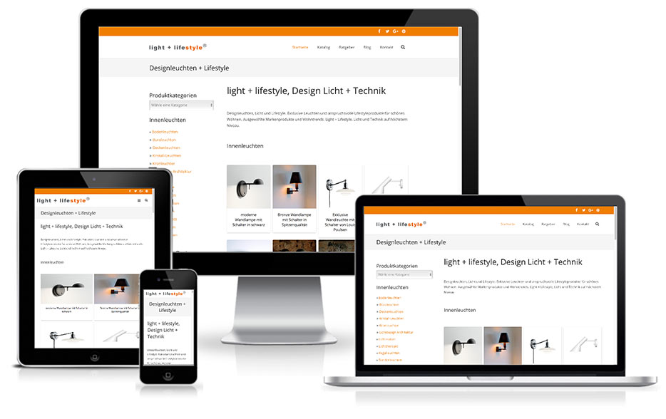light + lifestyle - Wordpress-Shop