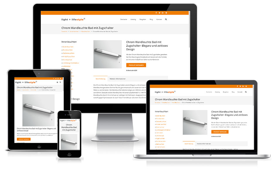 light + lifestyle - Wordpress + E-Commerce