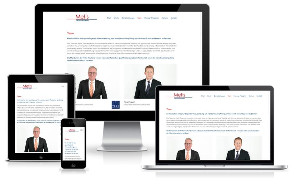 Metis Treuhand Wordpress + Webdesign