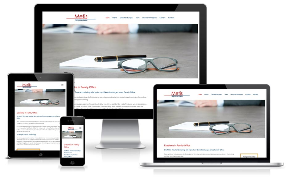 Metis Treuhand Wordpress + Webdesign