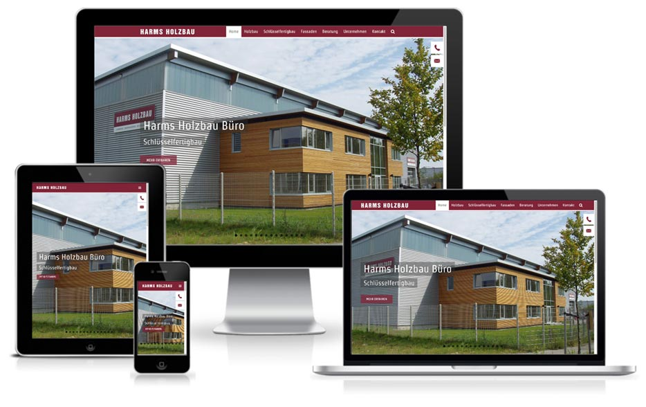 Webdesign + WordPress HARMS HOLZBAU