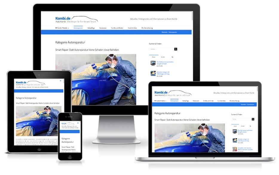 Wordpress Webdesign Kombi.de