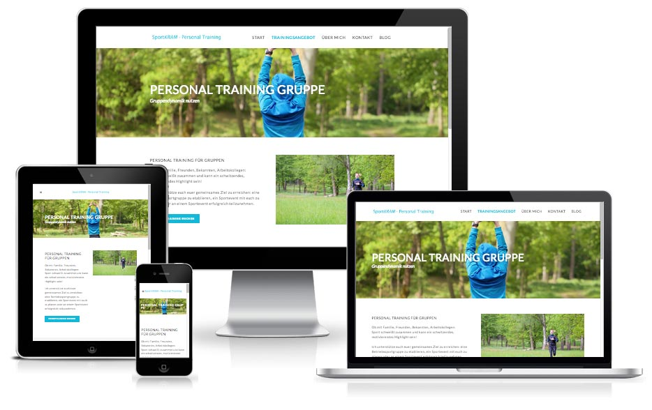 Wordpress Webdesign - sportKRAM