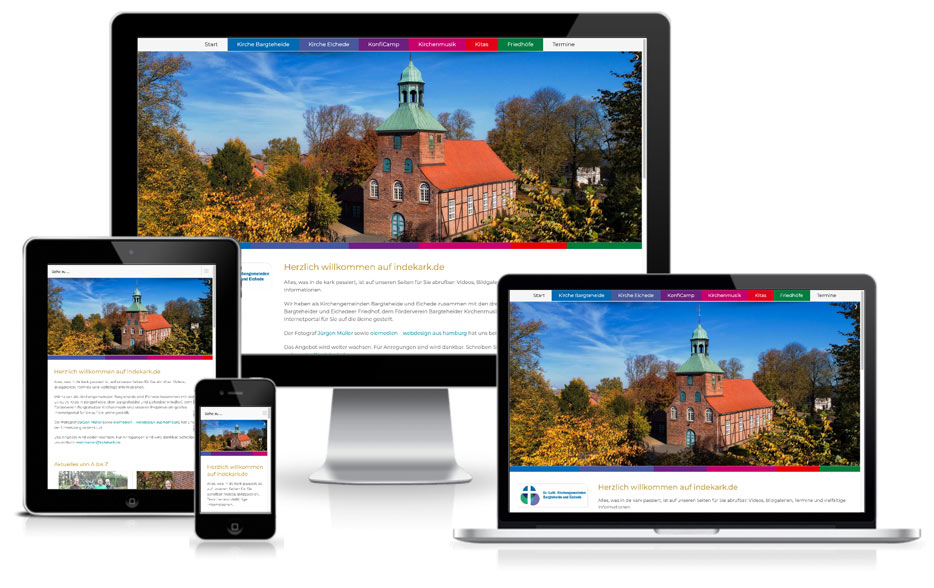 Kirchengemeinde Wordpress Webdesign Website