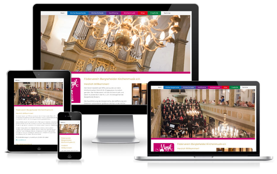 Kirchengemeinde Wordpress Webdesign Website