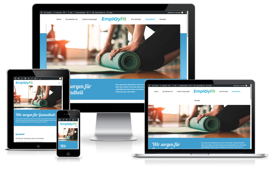website webdesign wordpress employfit