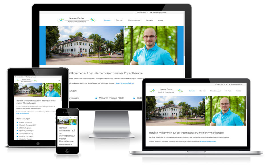 Webdesign + Wordpress - Norman Fischer Physio