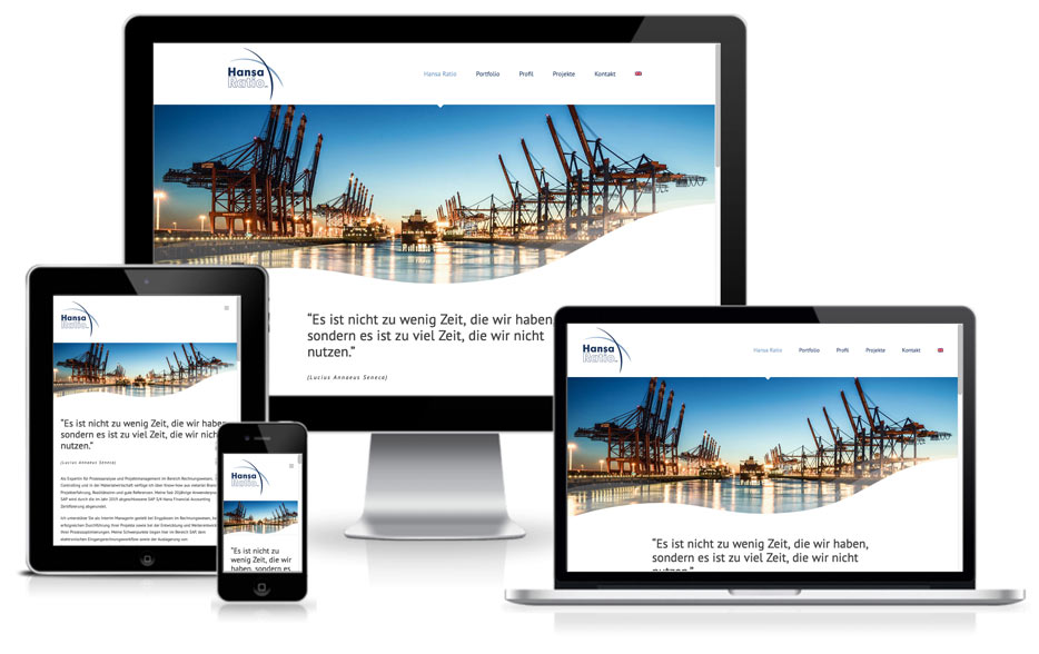 Wordpress + webdesign - Hansa Ratio