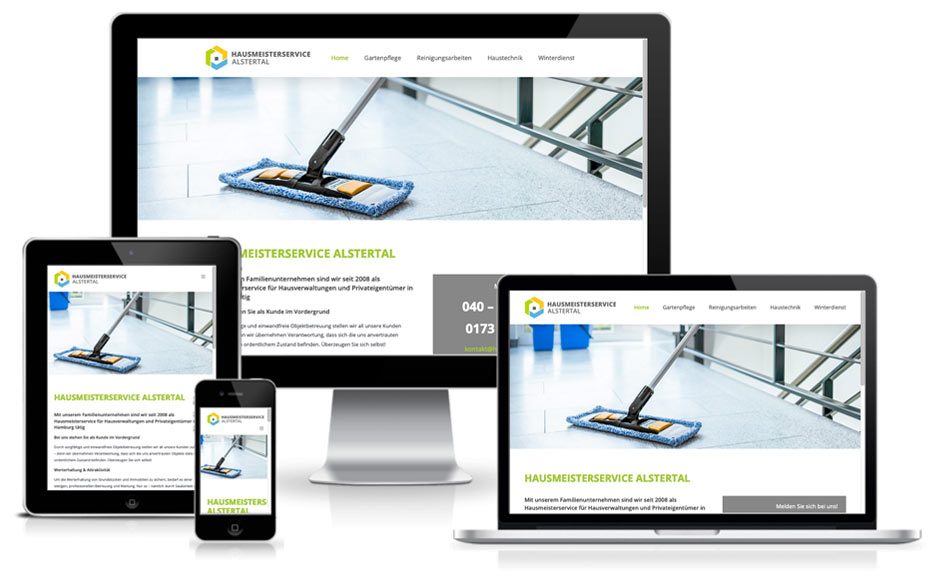Wordpress + webdesign - Hausmeister Alstertal
