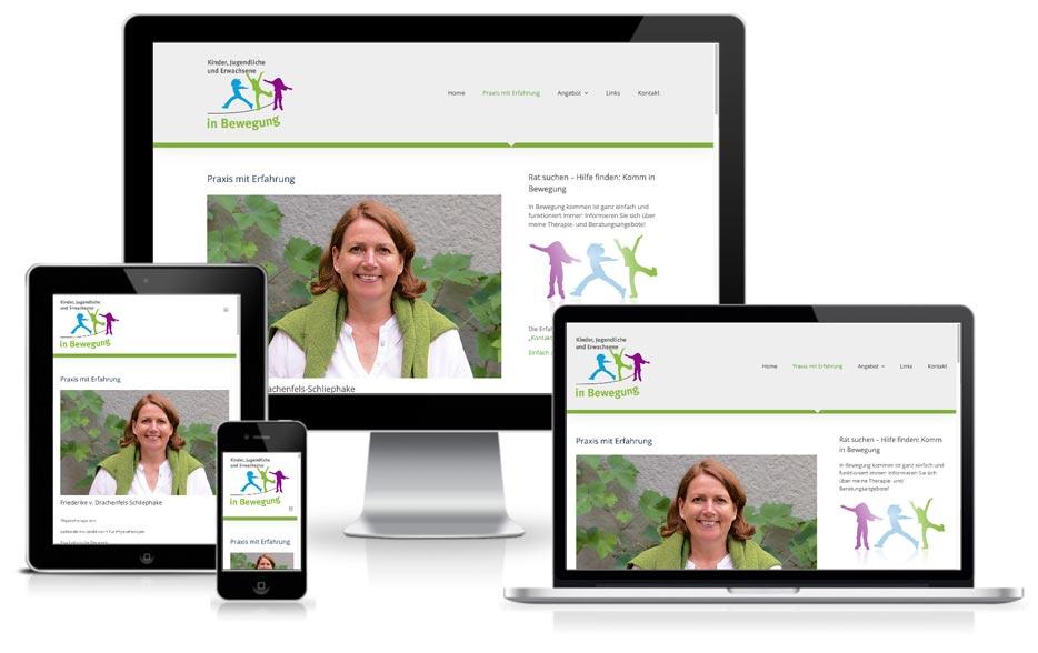 InBewegung - Website mit Wordpress