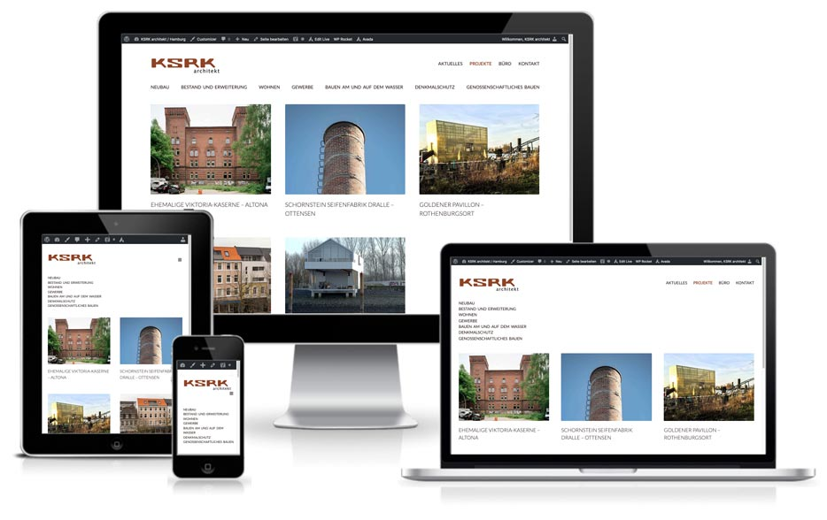 KSRK architekt Hamburg - Webdesign + Wordpress