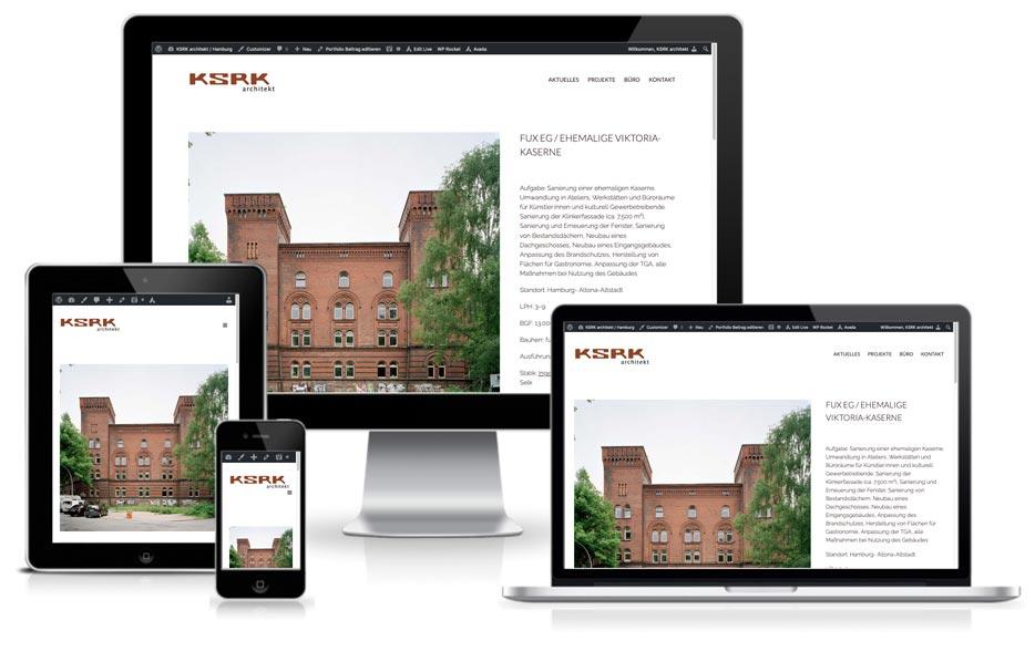 KSRK architekt Hamburg - Webdesign + Wordpress