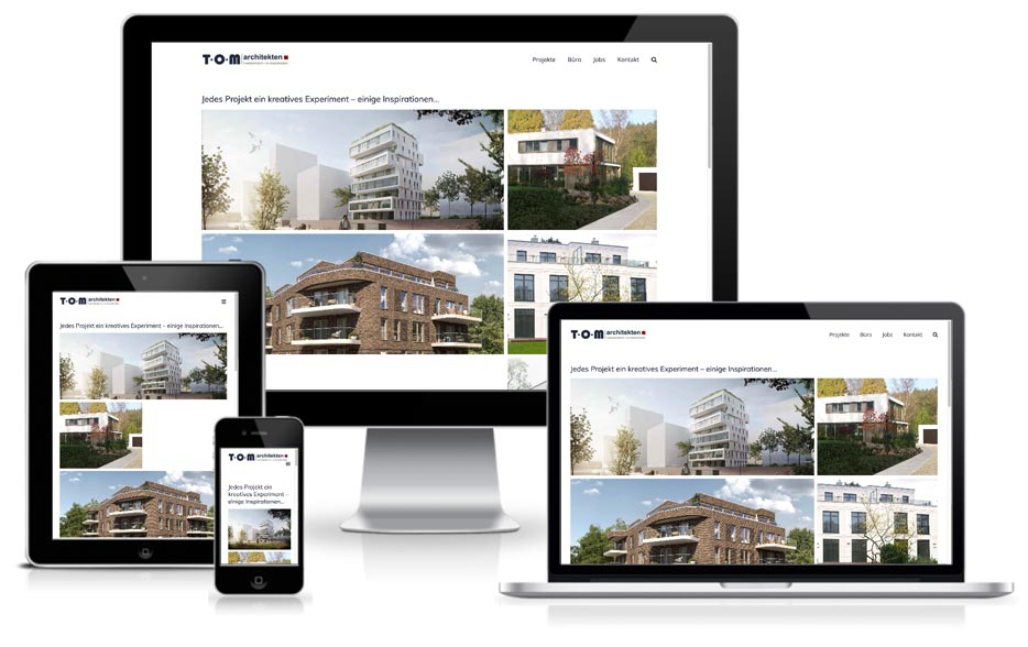 TOM architekten - Website mit Wordpress