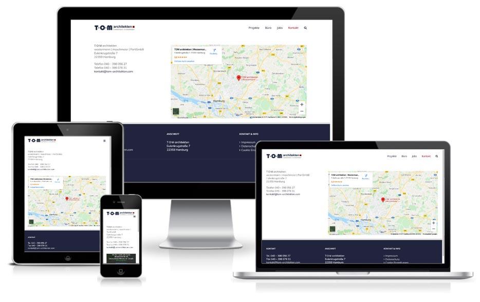 TOM architekten - Website mit Wordpress